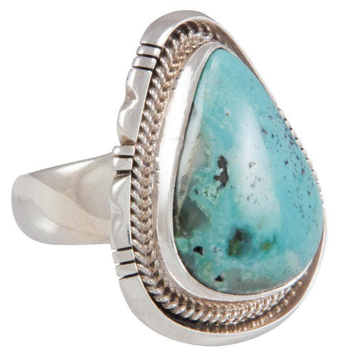 Navajo Native American Sunnyside Mine Turquoise Ring Size 8 3/4 SKU230610