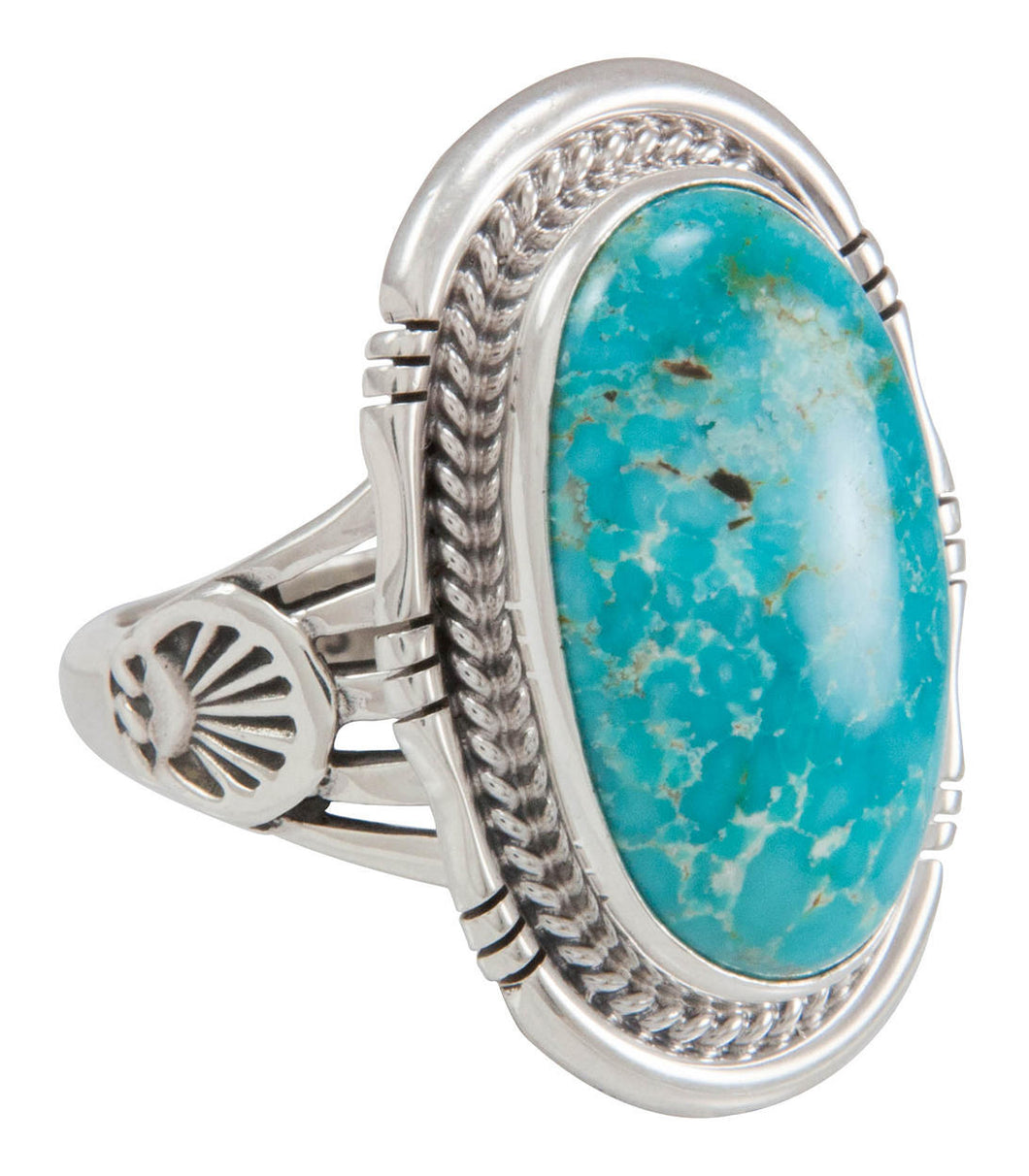 Navajo Native American Sunnyside Mine Turquoise Ring Size 9 SKU230622