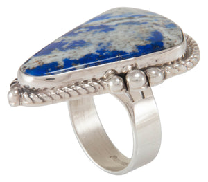 Navajo Native American Lapis Ring Size 6 3/4 by Bennie Ration SKU230640
