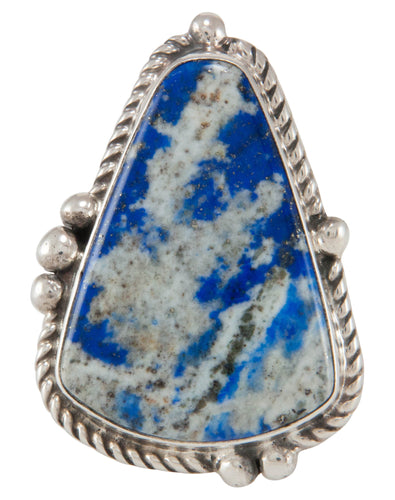 Navajo Native American Lapis Ring Size 6 3/4 by Bennie Ration