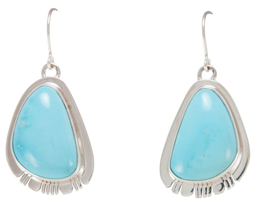 Navajo Native American Castle Dome Mine Turquoise Earrings SKU230661