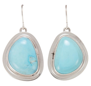 Navajo Native American Castle Dome Mine Turquoise Earrings SKU230662