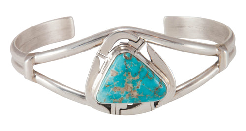 Navajo Native American Battle Mountain Mine Turquoise Bracelet SKU230668