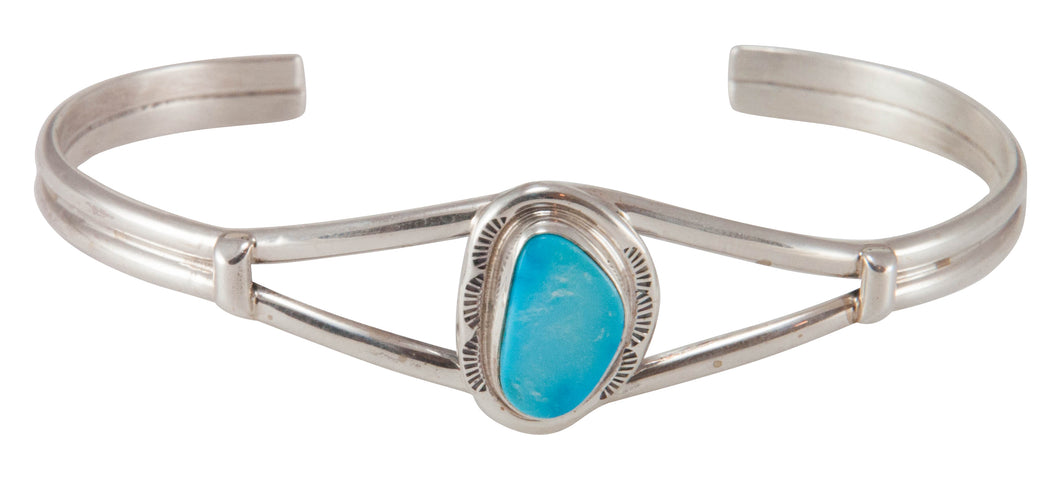 Navajo Native American Sleeping Beauty Mine Turquoise Bracelet SKU230675