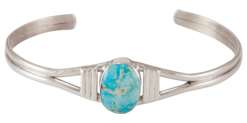 Navajo Native American Turquoise Mountain Mine Turquoise Bracelet SKU230676