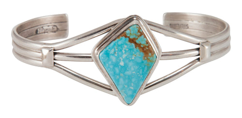 Navajo Native American Turquoise Mountain Mine Turquoise Bracelet SKU230677