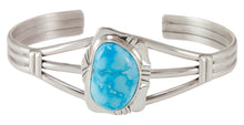 Load image into Gallery viewer, Navajo Native American Kingman Turquoise Bracelet by Herbert Pino SKU230683