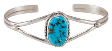 Load image into Gallery viewer, Navajo Native American Kingman Turquoise Bracelet by Victor Chavez SKU230686