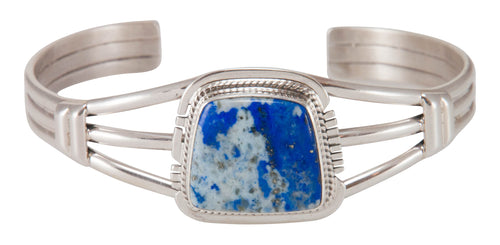 Navajo Native American Handcrafted Lapis Bracelet by Larson Lee SKU230693