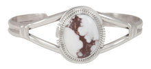 Load image into Gallery viewer, Navajo Native American Wild Horse Magnesite Bracelet by Larson Lee SKU230694