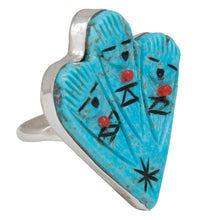 Load image into Gallery viewer, Zuni Native American Turquoise Zuni Maiden Ring Size 7 1/2 SKU230733