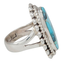 Load image into Gallery viewer, Navajo Native American Turquoise Inlay Ring Size 7 1/4 by Lincoln SKU230736