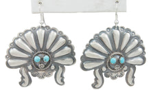 Load image into Gallery viewer, Navajo Native American Turquoise Sunface Earrings by Tim Yazzie SKU230755