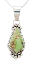 Load image into Gallery viewer, Navajo Native American Gaspeite Pendant Necklace by Mary Ann Spencer SKU230757