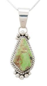 Navajo Native American Gaspeite Pendant Necklace by Mary Ann Spencer SKU230757