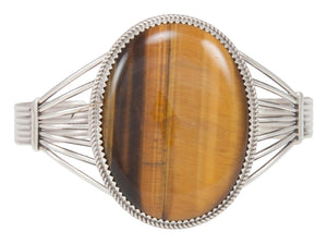 Navajo Native American Tiger Eye Bracelet by Phillip Yazzie SKU230763
