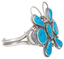 Load image into Gallery viewer, Navajo Native American Turquoise Butterfly Bracelet by Dean Brown SKU230767