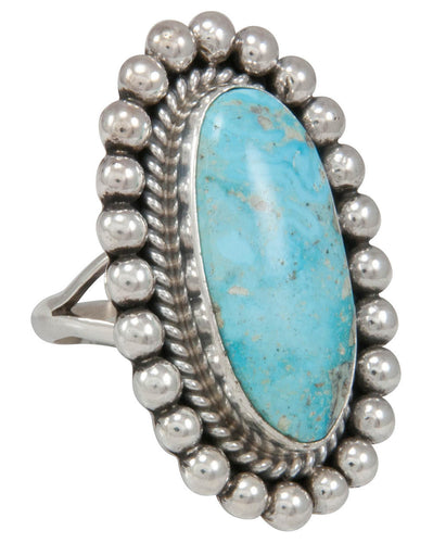 Navajo Native American Turquoise Ring Size 8 by Mary Ann Spencer SKU230771