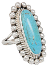 Load image into Gallery viewer, Navajo Native American Turquoise Ring Size 8 1/4 by Mary Ann Spencer SKU230772