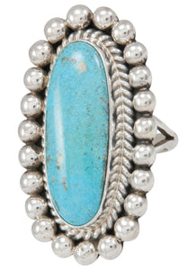 Navajo Native American Turquoise Ring Size 8 1/4 by Mary Ann Spencer SKU230772