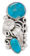 Load image into Gallery viewer, Navajo Native American Kingman Turquoise Ring Size 9 1/2 by Jones SKU230777