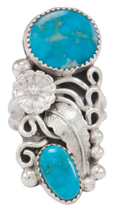 Navajo Native American Kingman Turquoise Ring Size 9 1/2 by Jones SKU230777
