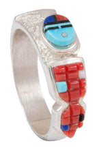 Load image into Gallery viewer, Navajo Native American Turquoise Sunface Ring Size 13 by Manning SKU230778