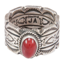 Load image into Gallery viewer, Navajo Native American Red Jasper Ring Size 10 1/2 by Joe Allen SKU230779
