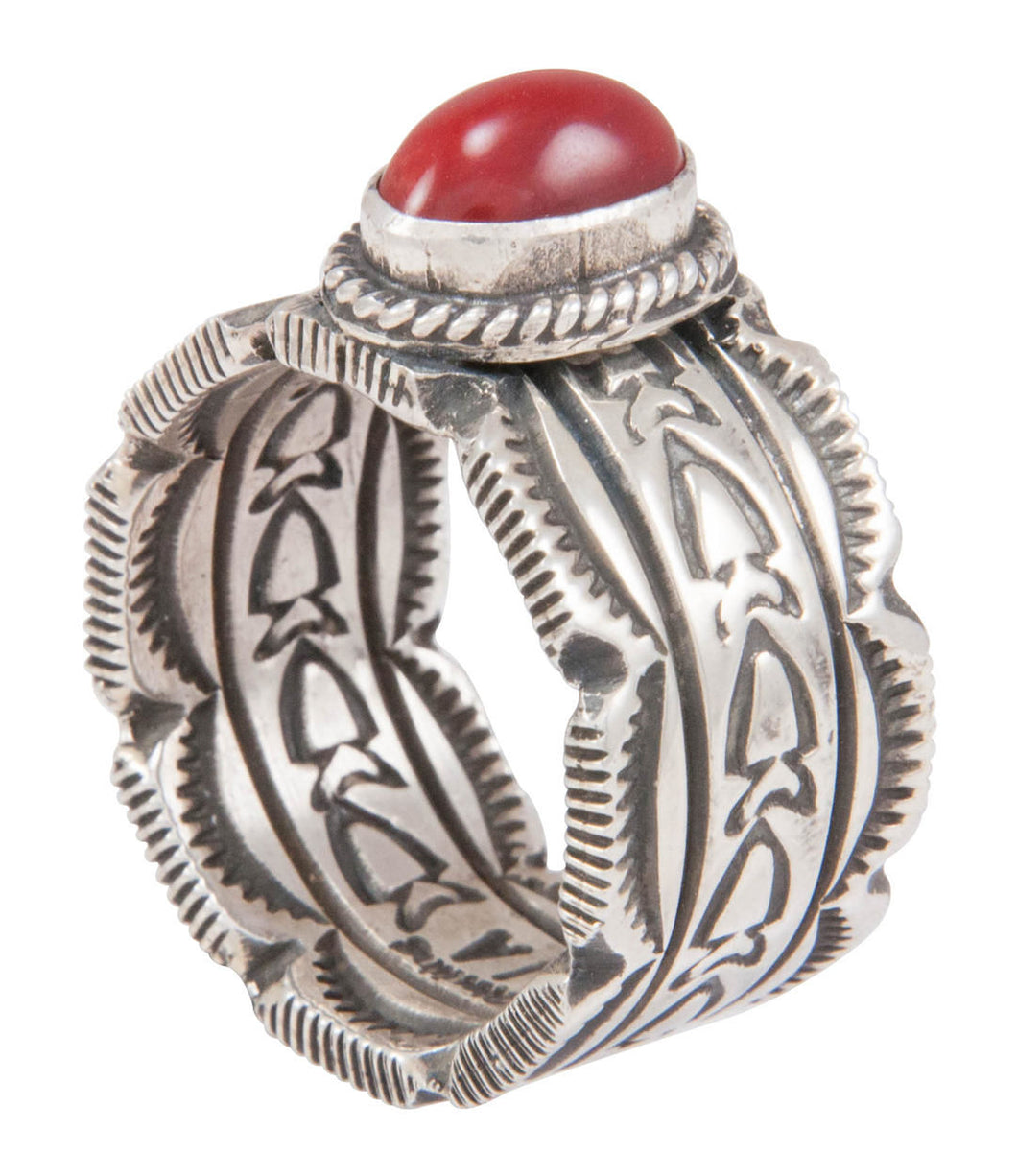 Navajo Native American Red Jasper Ring Size 10 1/2 by Joe Allen SKU230779