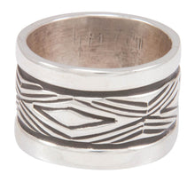 Load image into Gallery viewer, Navajo Native American Stamped Silver Ring Size 7 3/4 by Largo SKU230822