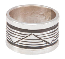 Load image into Gallery viewer, Navajo Native American Stamped Silver Ring Size 8 3/4 by Largo SKU230823