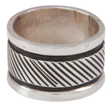 Load image into Gallery viewer, Navajo Native American Stamped Silver Ring Size 8 3/4 by Largo SKU230825