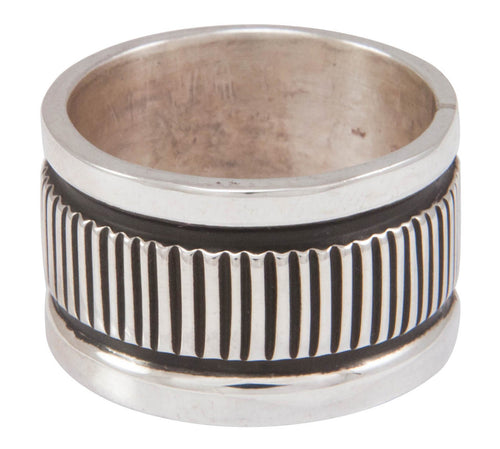 Navajo Native American Stamped Silver Ring Size 9 1/2 by Largo SKU230826