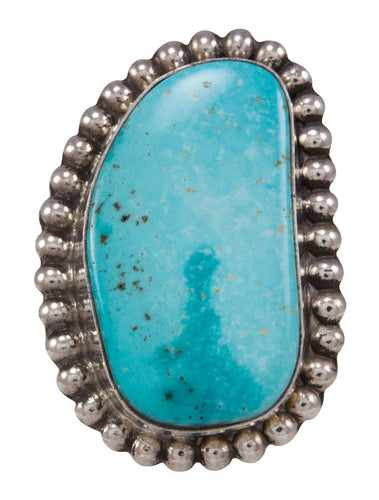 Navajo Native American Evans Mine Turquoise Ring Size 7 3/4 SKU230834