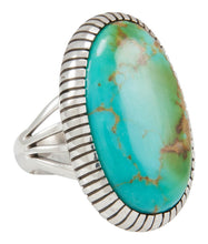 Load image into Gallery viewer, Navajo Native American Kingman Turquoise Ring Size 6 3/4 by Shakey SKU230855