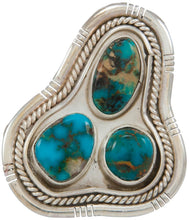 Load image into Gallery viewer, Navajo Native American Kingman Turquoise Ring Size 8 3/4 by Skeets SKU230857