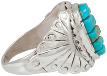 Load image into Gallery viewer, Navajo Native American Kingman Turquoise Ring Size 11 by Dawes SKU230861