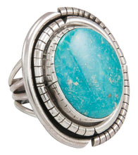Load image into Gallery viewer, Navajo Native American Kingman Turquoise Ring Size 8 1/2 by Johnson SKU230862