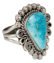 Load image into Gallery viewer, Navajo Native American Kingman Turquoise Ring Size 10 by Johnson SKU230863