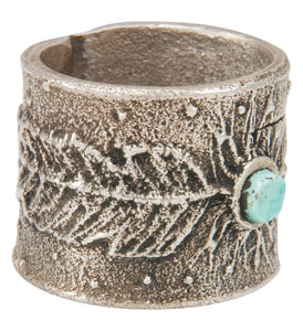 Navajo Native American Kingman Turquoise Ring Size 11 by Merle House SKU230865