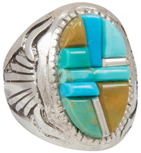 Load image into Gallery viewer, Navajo Native American Kingman Royston Turquoise Ring Size 9 1/4 SKU230875