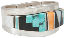 Load image into Gallery viewer, Navajo Native American Turquoise Inlay Ring Size 10 by Becenti SKU230881