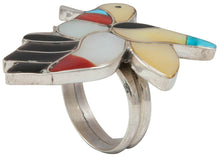Load image into Gallery viewer, Zuni Native American Turquoise Hummingbird Ring Size 6 1/2 by Shack SKU230889