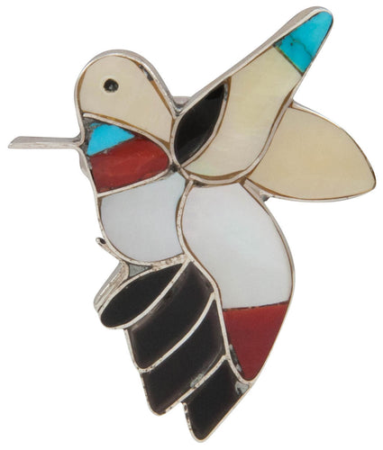 Zuni Native American Turquoise Hummingbird Ring Size 6 1/2 by Shack SKU230889