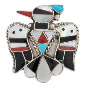 Zuni Native American Turquoise Hummingbird Ring Size 9 by Shack SKU230891