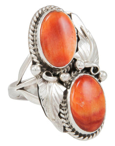 Navajo Native American Orange Shell Ring Size 6 3/4 by Largo SKU230895