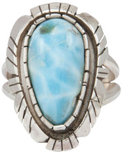 Load image into Gallery viewer, Navajo Native American Larimar Ring Size 9 1/4 by Alice Johnson SKU230905