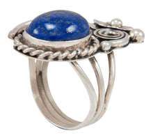 Load image into Gallery viewer, Navajo Native American Lapis Ring Size 6 1/2 by Allison Johnson SKU230909