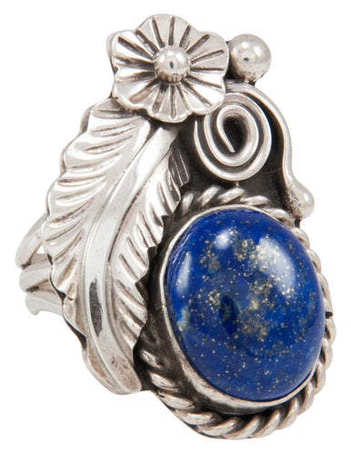 Navajo Native American Lapis Ring Size 6 1/2 by Allison Johnson SKU230909