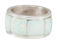 Load image into Gallery viewer, Zuni Native American Lab Created Opal Ring Size 9 1/2 by Booqua SKU230917